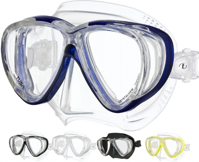 Tusa - M41 Freedom Quad Mask - Crystal View Lenses - Dive, snorkel, Scuba
